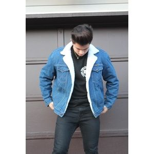 *VTG* Wrangler Sherpa Denim Jacket